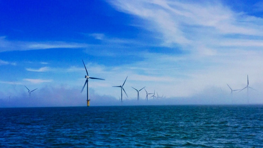 Offshore windfarm turbines